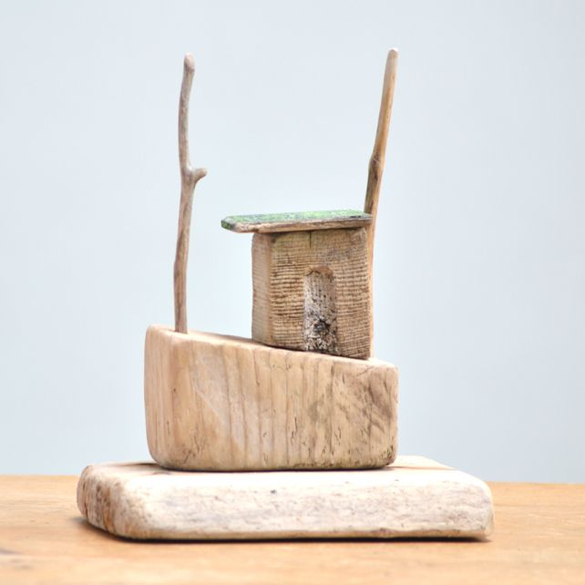 Driftwood Boat - My childhood wooden boats did not look well designed as this piece...