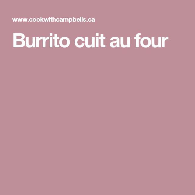 Burrito cuit au four