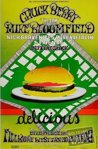 Chuck Berry 1969 Original Fillmore Concert Poster