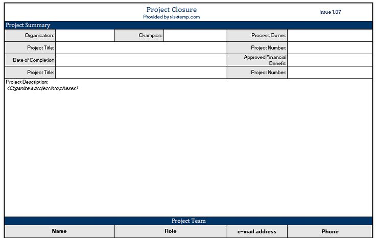 Looking for the ready to use and premium project closure template - project closure template