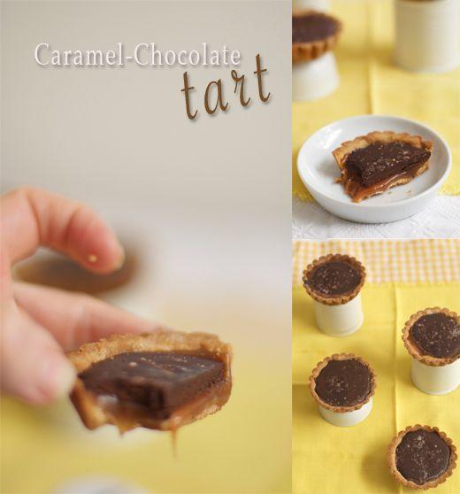 Chocolate Caramel Tarts from @Susan Salzman