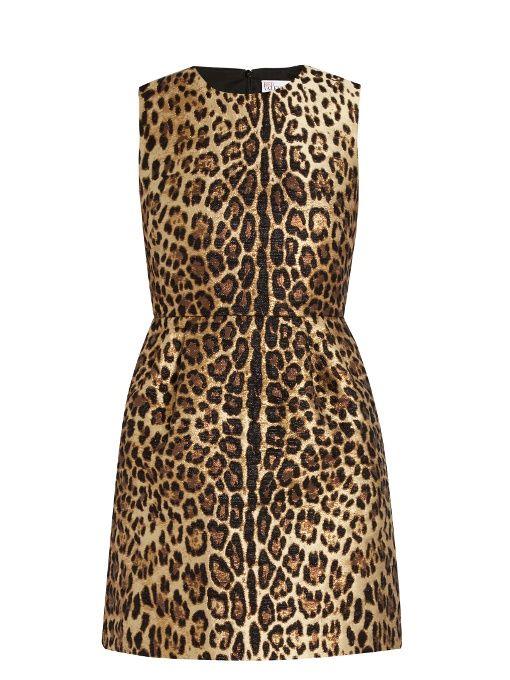 Leopard Cotton Blend Jacquard Dress, Black/Brown. Leopard Print DressesLeopard  DressLeopard PrintsPrinted DressesBrown DressDress RedRed Valentino ...