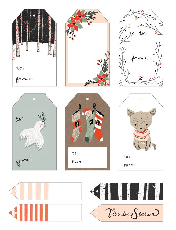 Free printable christmas gift tags - free download