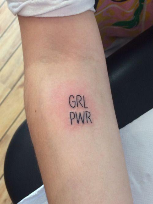 Resultado de imagem para grl pwr tattoo