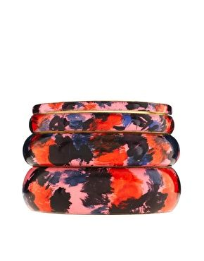 Like Impressionist art for your arm.: Impressionist Art, Asos Paintings, Bangles Packs, Paint Splash, Bracelets, Paintings Splash, Splash Bangles, Jewelry, Winter Trends