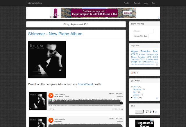 Dark Tile - Free Minimalist Blogger Template - HTML5 CSS3 Bootstrap 3