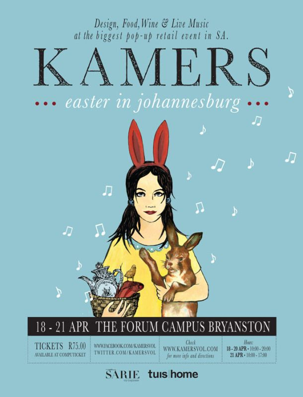 KAMERS 2014 Easter in Johannesburg – Design, Food & Wine, 18-21 April 2014, The Forum Campus, Bryanston #KAMERS2014