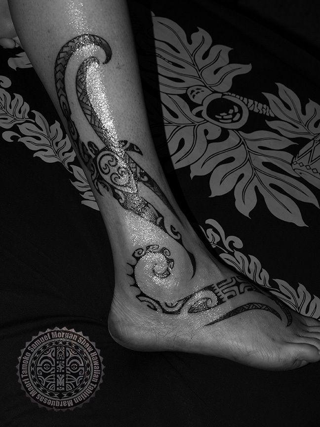 Womens' Polynesian Tattoos | South Seas Style and Custom Tattooing by Samuel Shaw