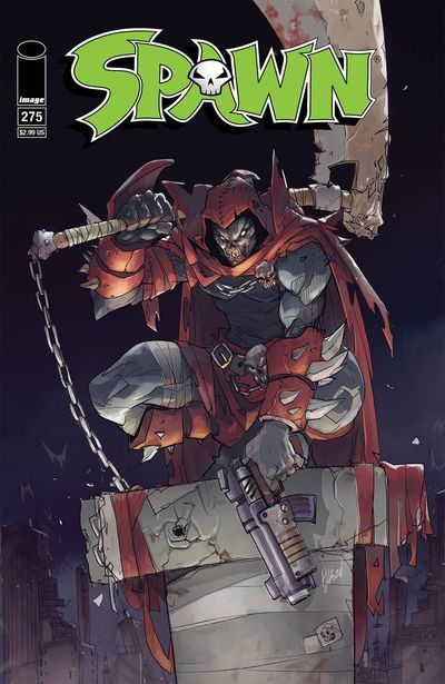 DEAL OF THE DAY Spawn #275 (25th Anniversary Cover A - Hibachi) - $2.69 Retail Price: $2.99 You Save: $0.30 Two of Spawn's most famous co-stars are back for Spawn's 25th Anniversary Let's welcome back Twitch and Sam. For more Spawn comics and graphic novels visit our Indie Comics World Today!! TO BUY CLICK ON LINK BELOW http://tomatovisiontv.wix.com/tomatovision2#!comics/cfvg