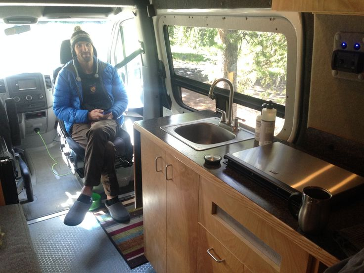 Ian In Captain Chair Campers Sprinter Van Conversion