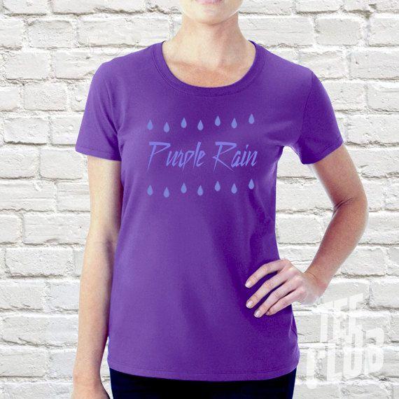 Ladies Prince tshirt purple rain prince symbol prince by TeeClub
