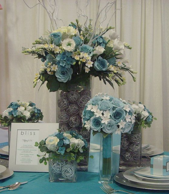 Best ideas about tiffany blue centerpieces on pinterest