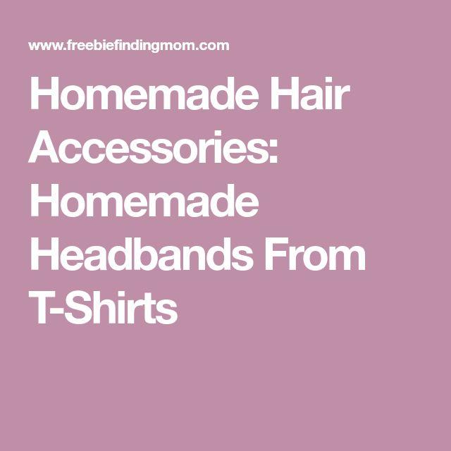 Homemade Hair Accessories: Homemade Headbands From T-Shirts