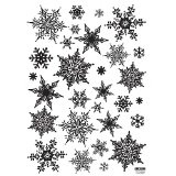 Easy Instant Decoration Wall Sticker Decal – Ornate Snowflakes | formulablogger.com