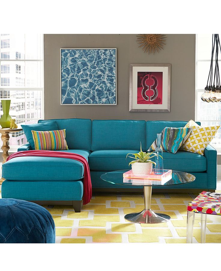 Keegan Fabric Sectional Sofa Living Room Furniture Collection - New Blues -  Furniture - Macy's - 25+ Best Ideas About Teal Living Room Furniture On Pinterest