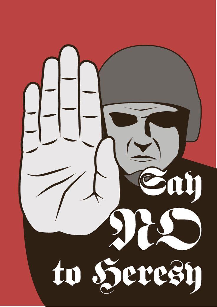 Propaganda poster for Warhammer 40k,