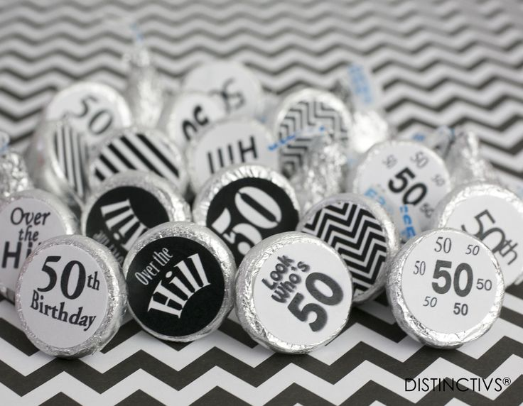 Look Who's 50!  Celebrate a 50th Birthday with classic Black and White!