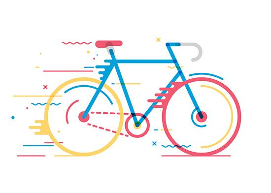 Bicycles: Illustration Series by Daniel González | Inspiration Grid | Design Inspiration