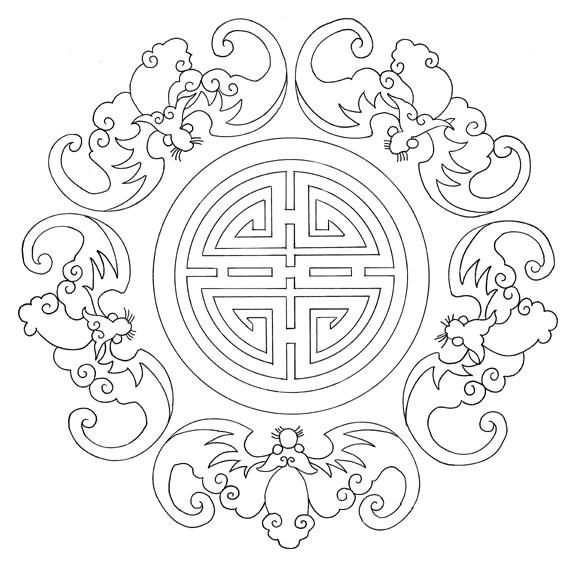chinese embroidery patterns   These beautiful embroidery patterns are perfect to be used as coloring ...
