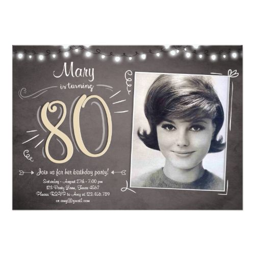 Surprise Birthday Invitations 80th Birthday Invitation Vintage Eighty Birthday