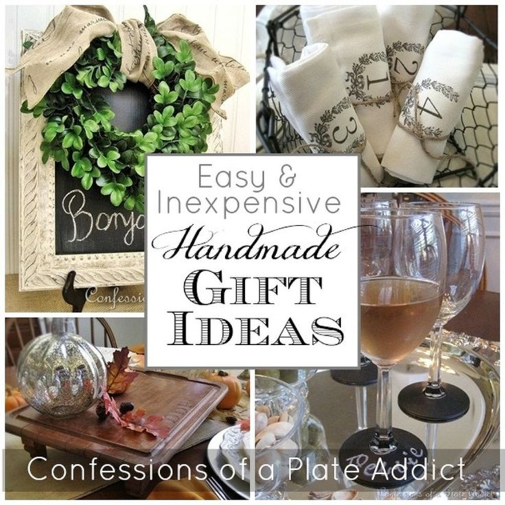 Easy and Inexpensive Handmade Gift Ideas