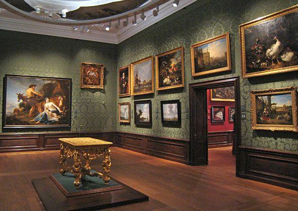 Gallery with landscape paintings in the Mauritshuis • Zaal met landschapsschilderijen in het Mauritshuis • Museumssaal mit Landschaftsgemälden im Mauritshuis, Den Haag. • www.kukullus.nl