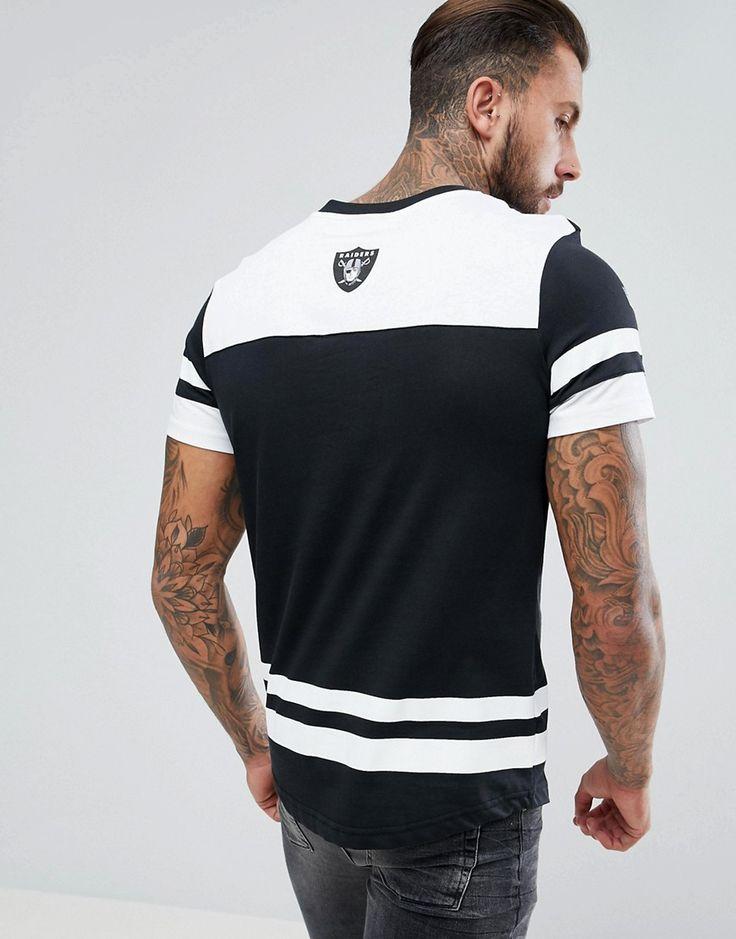 Majestic Oversized Raiders Team T-Shirt - Black