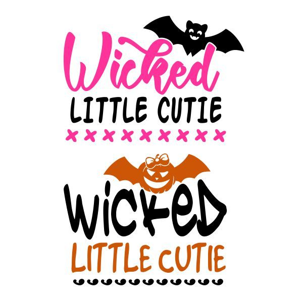 Wicked Little Cutie One Cuttable Design Cut File. Vector, Clipart, Digital Scrapbooking Download, Available in JPEG, PDF, EPS, DXF and SVG. Works with Cricut, Design Space, Cuts A Lot, Make the Cut!, Inkscape, CorelDraw, Adobe Illustrator, Silhouette Cameo, Brother ScanNCut and other software.