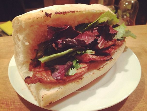 Pork Bahn Mi, delicious caramelized pork Vietnamese sandwich, paired ...
