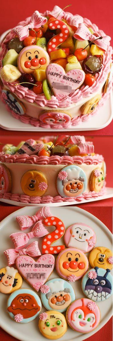 birthday cake  アンパンマンのお誕生日ケーキ