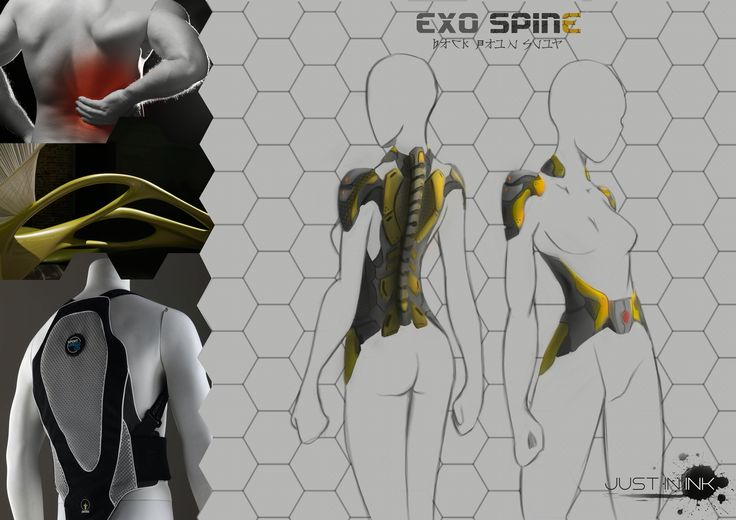 Exo-Spine. A futuristic exo-suit for back pain