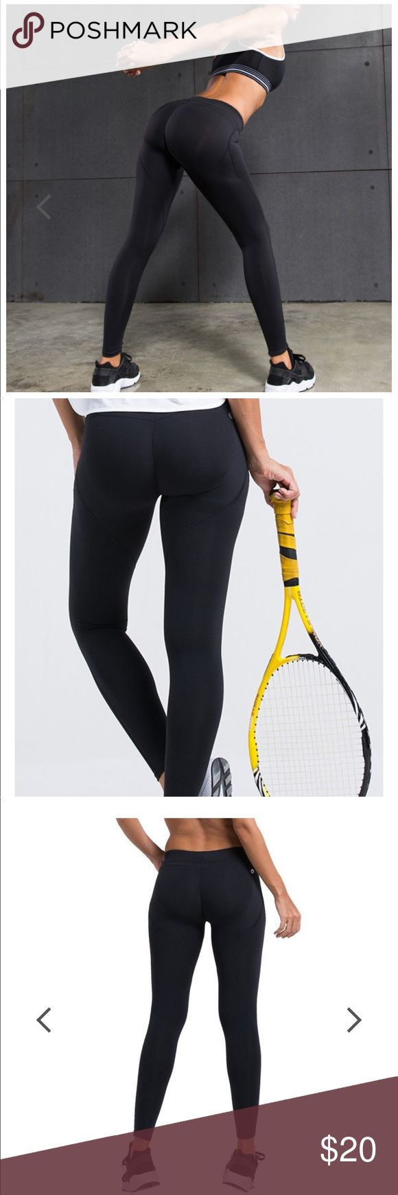 Women's Yoga Pants with Super Tush Trainer™ NEW, black compression yoga pants with built in Tush Trainer™ lifter and support. Instantly start to shape your rear into that perfect position to take advantage muscle memory and get results faster! Size small, black. Original price online $45 plus shipping. Runs small. Pants
