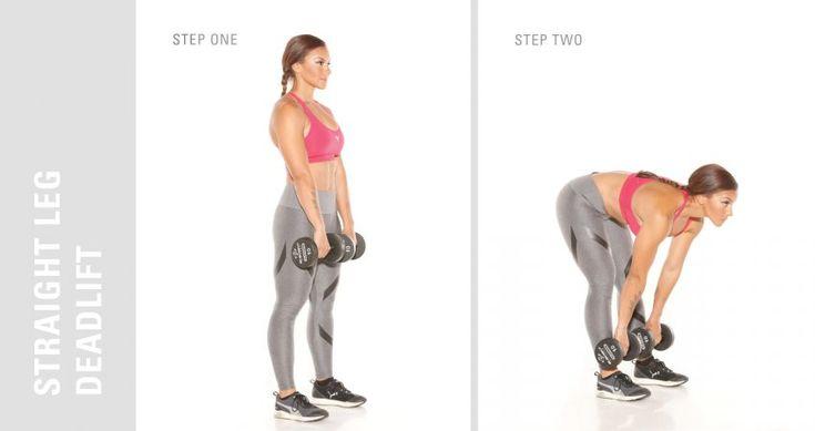 Straight Leg Deadlift Pose- Glute Exercise For Better Butt