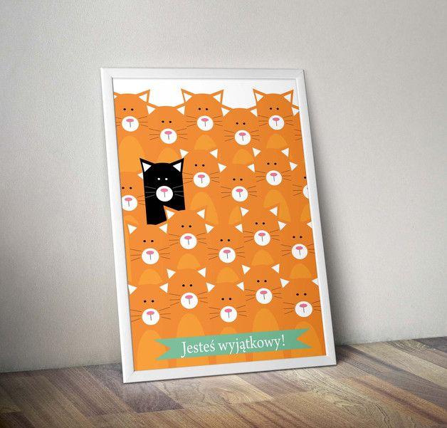 Plakat JESTEŚ WYJĄTKOWY! - A4 - Migot-Studio - Plakaty dla dzieci