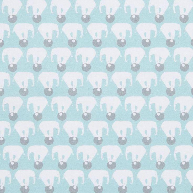 Tissu cretonne imprimé éléphants Circus