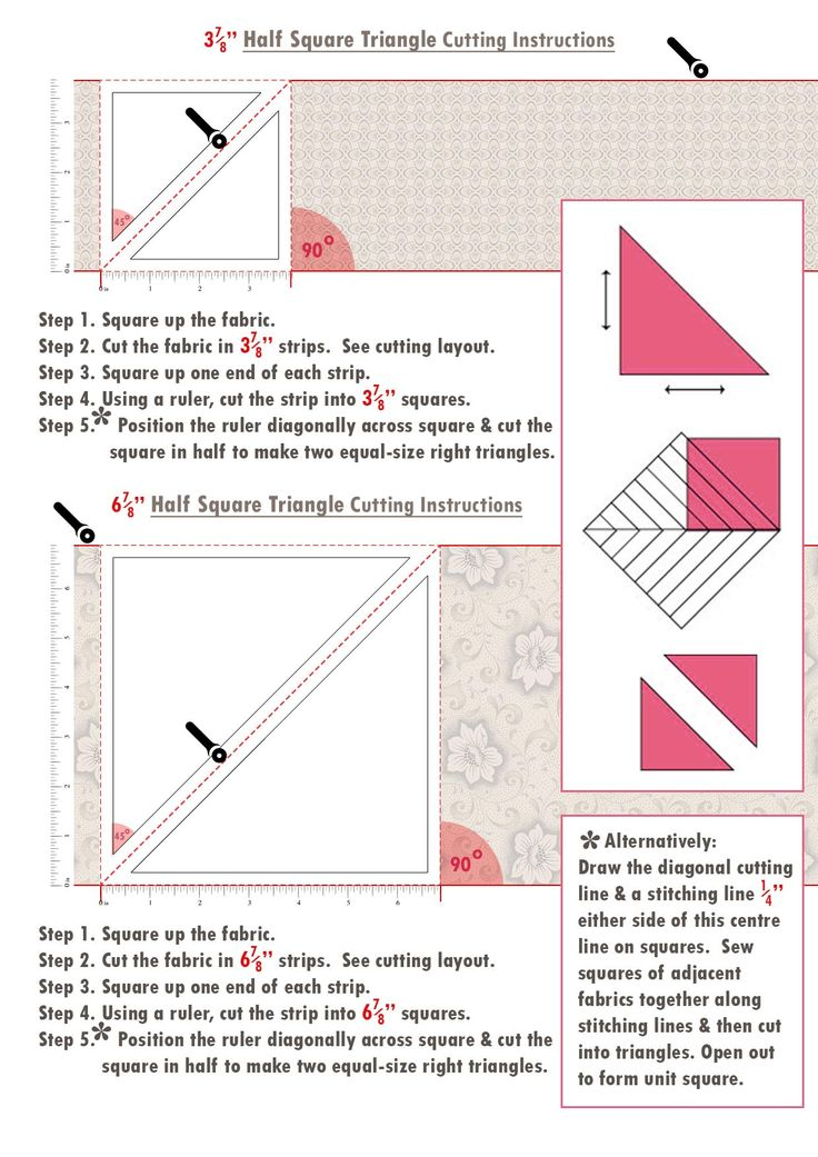 Iced Tea Collection Quilt pattern piece cutting instructions