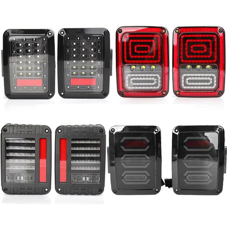 ==> [Free Shipping] Buy Best Two European/US Version LED Tail Lights Red Running Brake Yellow Turn Signal White Reverse Lamps For Jeep Wrangler JK 20072016 Online with LOWEST Price | 32815493747