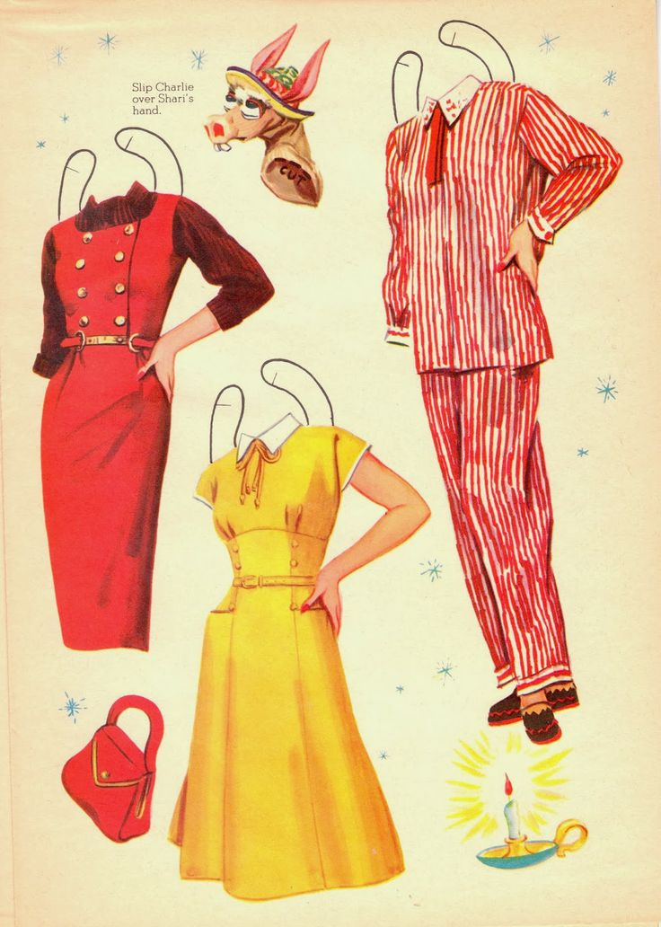 The Paper Collector: Shari Lewis Standing Dolls and Puppets, 1958-clothes