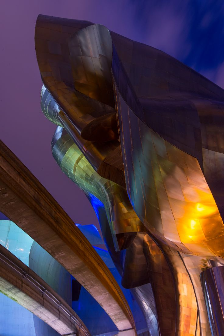 Frank Gehry designed EMP Experience Music Project building in Seattle #blurrdMEDIA #architecture #photography