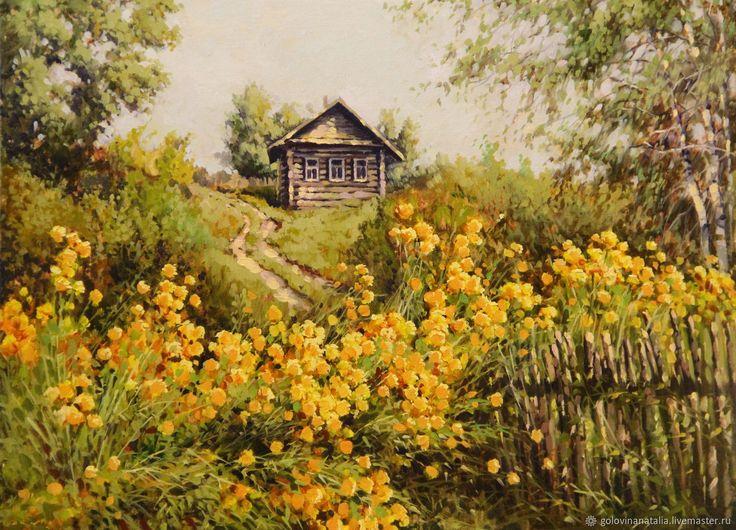 Купить Картина маслом,летний пейзаж, Красота в простоте в интернет магазине на Ярмарке Мастеров