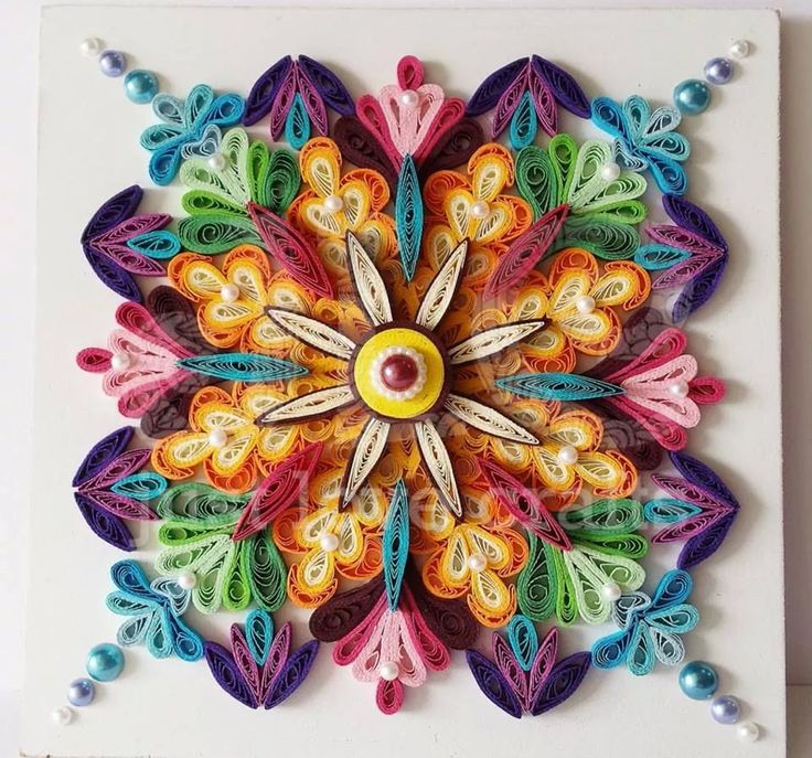 Quilled pattern