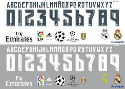 Camisetas de futbol 2013-2018 baratas: Tipografía para la Liga española temporada 2015-16