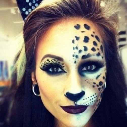 Maquillage chat halloween - http://lookvisage.ru/maquillage-chat-halloween/ #Cheveux #Beauté #tendances #conseils