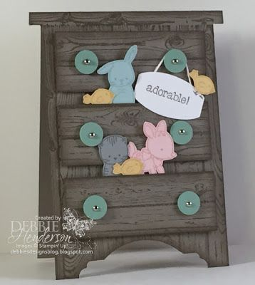 I will be using Stampin' Up! Made with Love with today's LIVE MINI SESSION! Yes, it starts today at Create with Connie & Mary. This dresser card is a sampling of what we have to offer in our Mini Session. Read all about on my blog today and sign up!