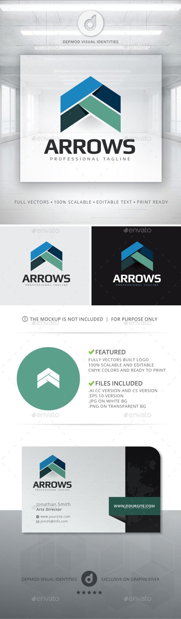 Arrows  Logo Design Template Vector #logotype Download it here: http://graphicriver.net/item/arrows-logo/12847114?s_rank=523?ref=nexion
