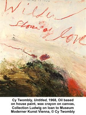 Cy Twombly - Untitled - Oil based on house paint, wax crayon on canvas