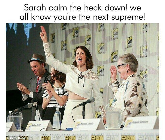 Calm down sarah