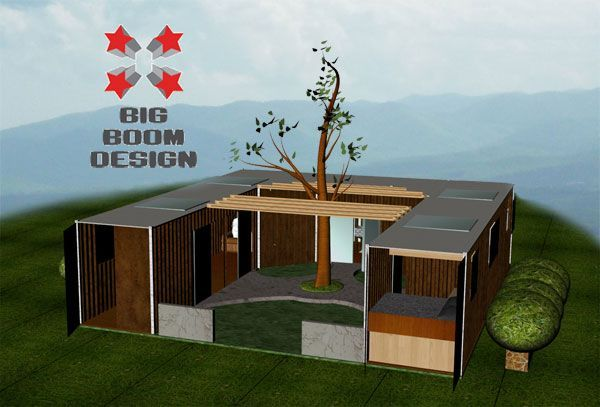 shipping container home u shaped enclosed porch loft high ceilings - Google Search