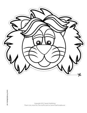 26 best images about masks crafts on pinterest dinosaur for Lion mask coloring page