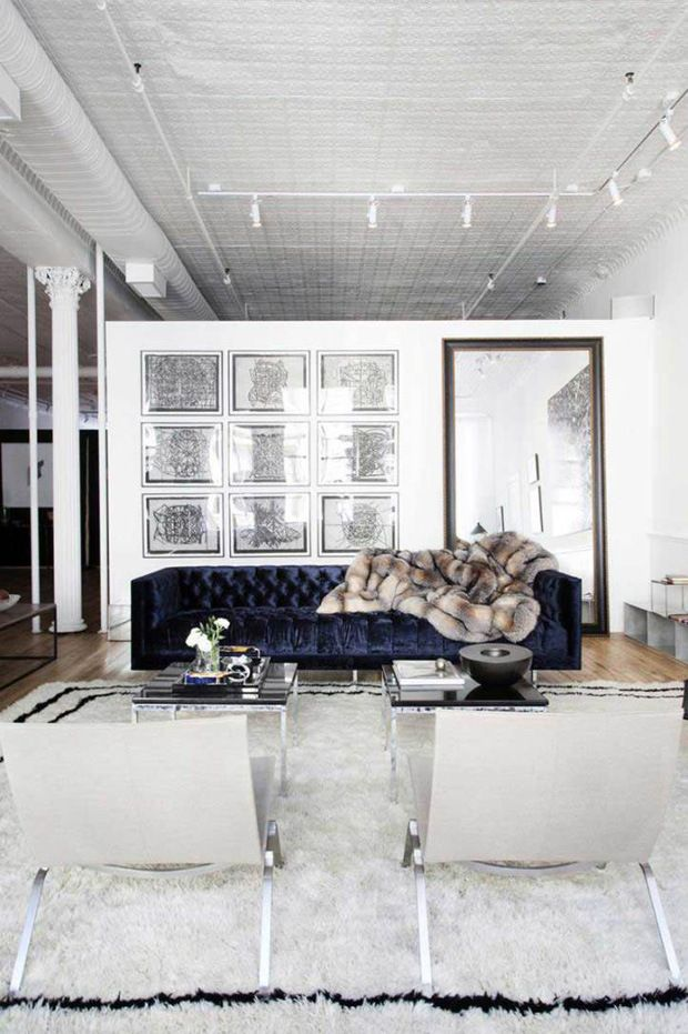 The Apartment by The Line, an NYC loft and retail space designed by Carl Sprague, via @sarahsarna.